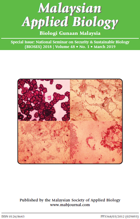 View Vol. 48 No. 1 (2019): Special Issue: National Seminar on Security & Sustainable Biology (BIOSES) 2018